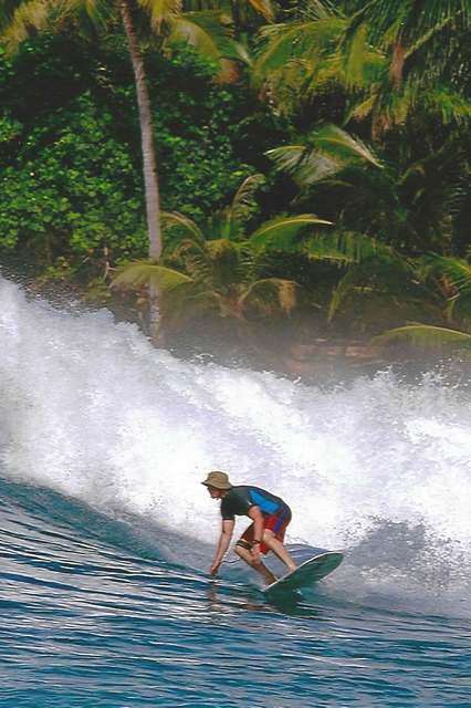 Surfing in South America after double partial knee replacement