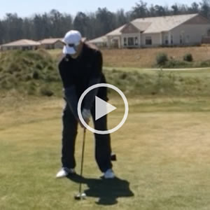 Golfing 2 weeks after knee replacement